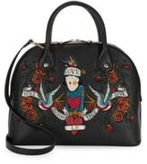 Love Moschino Logo Embroidered Dome Satchel