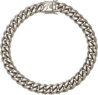 Fallon Silver-Tone Baguette Curb Chain Necklace