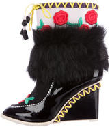 Sophia Webster Anouschka Wedge Ankle Boots