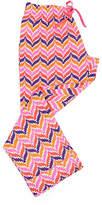 Malabar Bay Pink & Orange Zigzag Organic Cotton Capri Lounge Pants