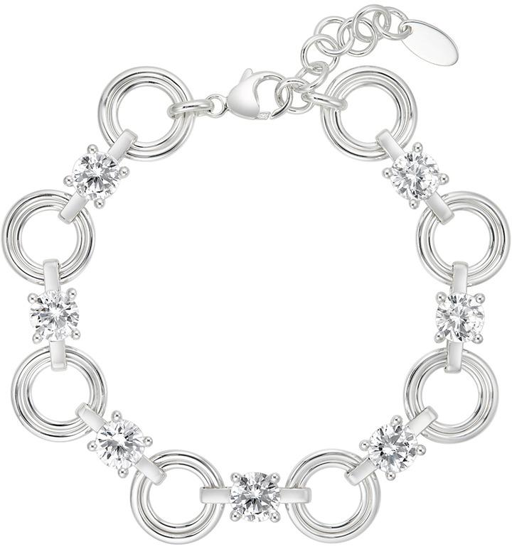 Ice.com 16 1/3 Carat CZ Sterling Silver Bracelet