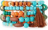 Nakamol Multi-Stone Beaded Bracelet, Turquoise Mix