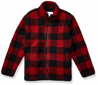 Amazon Essentials Full-zip High-pile Polar Fleece Jacket Exploded Red Buffalo Check 2T
