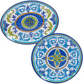 Certified International 2 Piece Lucca Round Platter & Oval Platter