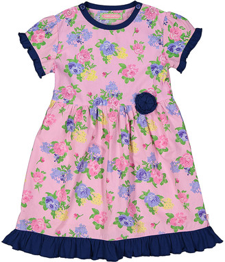 SAM. Sophie & Girls' Casual Dresses PINK - Pink Floral Ruffle-Trim A-Line Dress - Infant, Toddler & Girls