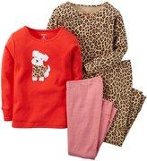 Carter's 4 Piece PJ Set (Baby) - Cheetah-24 Months