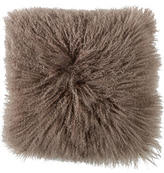 Adrienne Landau Mongolian Lamb Fur Pillow w/ Tags