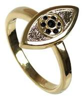 House Of Harlow 1960 14k Plated Crystal Ring.