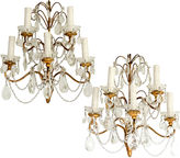 One Kings Lane Vintage Italian Beaded 5-Arm Sconces