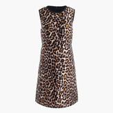 J.Crew Petite A-line shift dress in leopard print