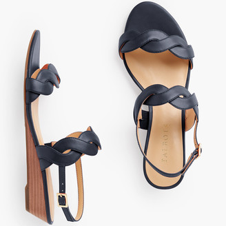 Talbots Capri Twist Mini Wedge Sandals - Nappa Leather
