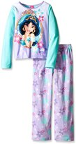 AME Sleepwear Disney Princess Jasmine Fleece Pajama Set for Big Girls