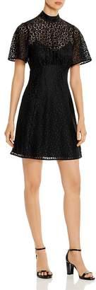 Kate Spade Short-Sleeve Leopard-Lace Dress