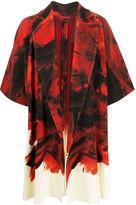 Issey Miyake Homme Plissé ribbed abstract-print kimono