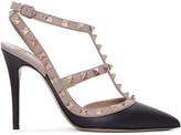 Valentino Black & Pink Rockstud Cage Heels