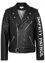 Soulland Richenback Printed Leather Biker Jacket