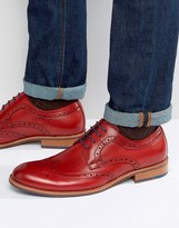 Dune Radcliffe Leather Derby Brogue Shoes