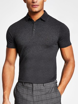 River Island Essential Muscle Fit Polo