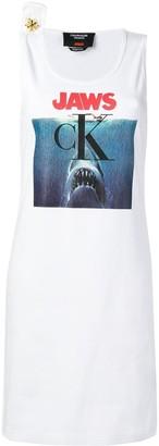 Calvin Klein Jaws print logo dress