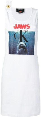 Calvin Klein Jaws print logo dress