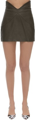 ATTICO The Butterfly Leather Mini Skirt
