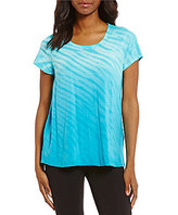 Calvin Klein Ombre Noho Tie Dye Relaxed Fit Scoop Neck Tee