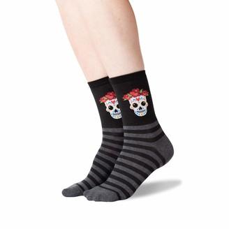 Hot Sox Women's Sugar Skull Crew Socks