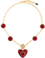 Dolce & Gabbana heart rose pendant necklace
