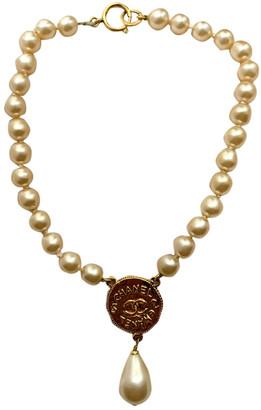 Chanel CC White Pearl Necklaces