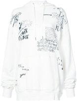 R 13 scribble print hoodie