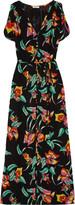 Joie Lunaria printed silk maxi dress