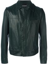 Ann Demeulemeester patch pocket zipped jacket - men - Leather/Polyester/Rayon - M