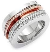 Swarovski Three-Piece Vio Crystal Pave Ring Set