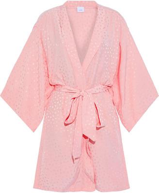Onia Gina Satin-jacquard Kimono