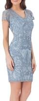 JS Collections Women's Embellished Soutache Sheath Dress