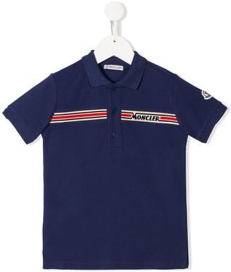 Moncler Enfant Logo-Band Polo Shirt