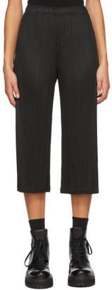 Pleats Please Issey Miyake Black Cropped Trousers