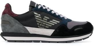 Emporio Armani Low Top Contrast Panel Sneakers