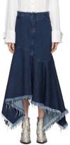 Marques Almeida Indigo Denim Asymmetric Skirt