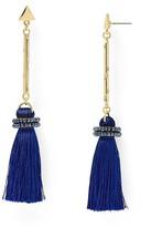 Aqua Brette Tassel Drop Earrings