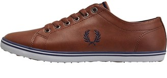 Fred Perry Mens Kingston Leather Trainers Tan