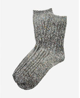 Express marled popcorn boot socks