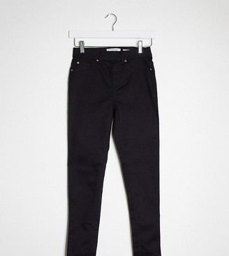 New Look Petite highwaisted jegging in black