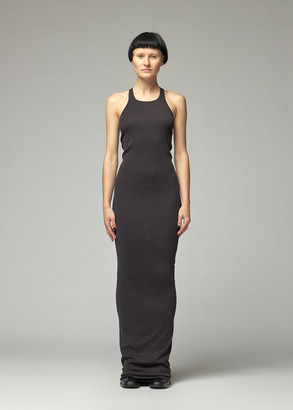 Rick Owens Women's Rib Tank Gown Dress in Black Size Small