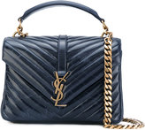 Saint Laurent medium Monogram Collège satchel - women - Calf Leather - One Size