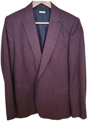 Dries Van Noten Burgundy Wool Jackets