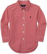 Polo Ralph Lauren Yarn-Dyed Poplin Long Sleeve Button Down Shirt (Toddler)