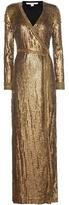 Diane von Furstenberg Ariel Armour Wrap Gown