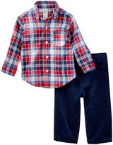 Little Me Navy Red Woven Pant Set (Baby Boys)