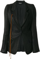 Ann Demeulemeester fitted blazer - women - Cotton/Linen/Flax/Nylon/Virgin Wool - 36